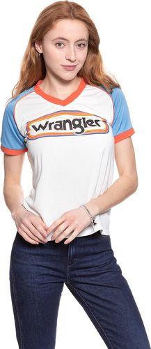 Wrangler Koszulka damska Raglan Tee Egret Off White r. L (W7389GZIO)