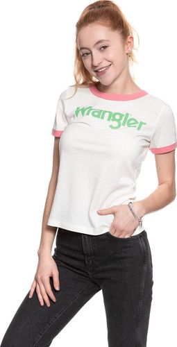 Wrangler WRANGLER RETRO KABEL TEE ETHEREAL YELLOW W716SEVUF XS