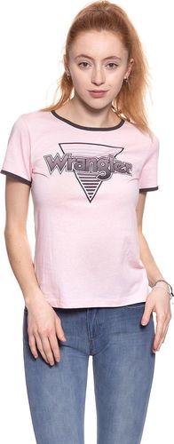 Wrangler Koszulka damska Ringer Tee Chalk Pink r. L (W7385EVWG)