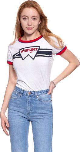 Wrangler Koszulka damska Ringer Tee White r. XS (W710SEV12)