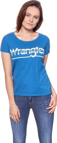 Wrangler Koszulka damska Ss Graphic Tee Deep Water r. S (W7Z02EVDF)