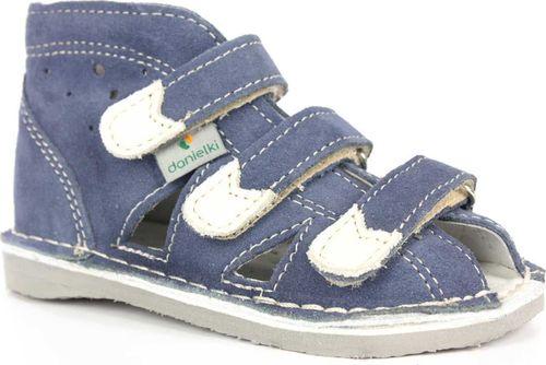 Danielki Obuwie chłopięce Danielki S104 profilaktyczne jeans 26