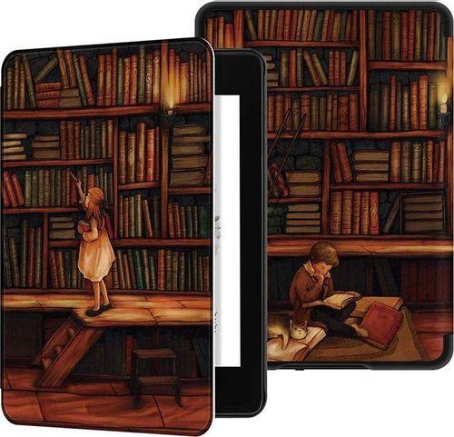 Pokrowiec Etui Graphic Kindle Paperwhite 4 - Library Girl uniwersalny