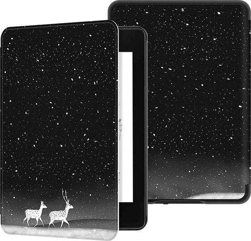Pokrowiec Etui Graphic Kindle 10 2019 - Snow Deer uniwersalny