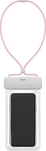 Baseus BASEUS LETS SLIP UNIVERSAL WATERPROOF CASE WHITE/PINK