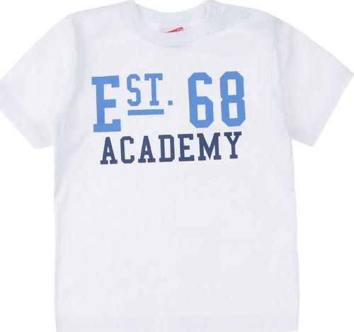 TXM TXM T-shirt niemowlęcy chłopięcy z printem 74 BIAŁY