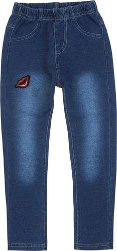 TXM TXM Spodnie dziewczęce jegginsy 3 JEANSOWY