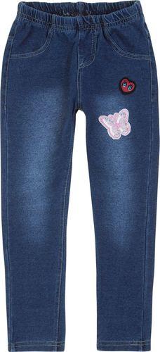 TXM TXM Spodnie dziewczęce jegginsy, z naszywkami 2 JEANSOWY