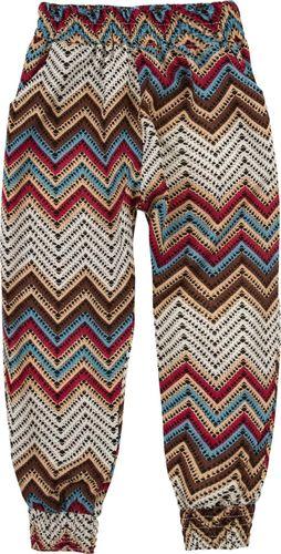 TXM TXM Spodnie dziewczęce luźne we wzory 128 KREMOWY