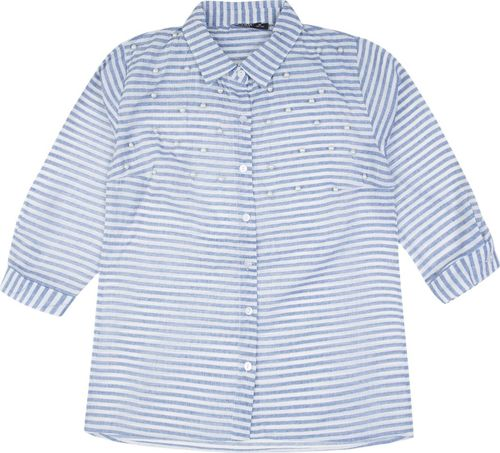 TXM TXM Koszula damska z rękawem 3/4 L NIEBIESKI