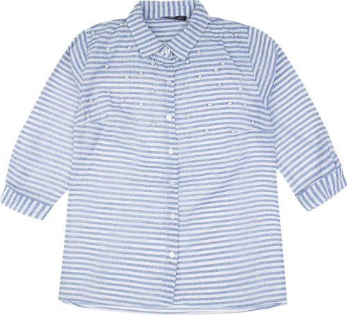 TXM TXM Koszula damska z rękawem 3/4 XL NIEBIESKI