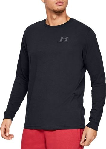 Under Armour Koszulka męska Sportstyle Left Chest LS czarna r. S (1329585-001)