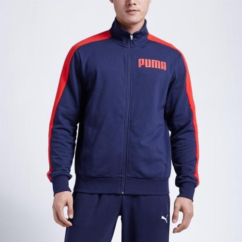 Puma Bluza męska Contrast Track Jacket granatowa r. XXL (85173603)