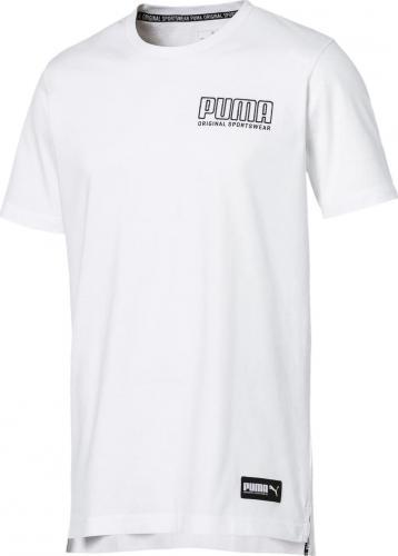 Puma Koszulka męska Athletics Tee Big Cott biała r. M (85410602)