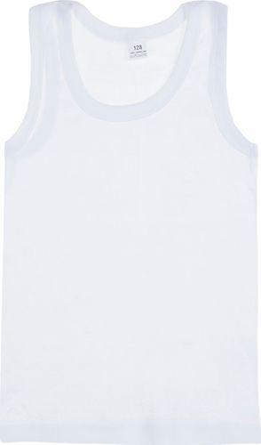 TXM TXM Koszulka chłopięca podkoszulek 140 BIAŁY