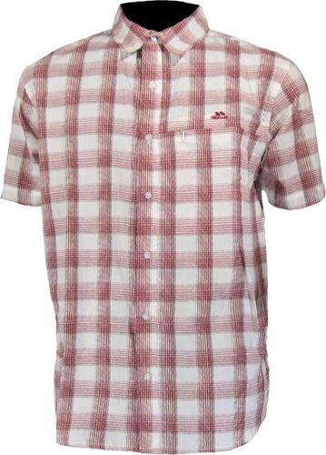 Trespass Koszula Trespass Symmonds męska : Kolor - Czerwony, Rozmiar - M
