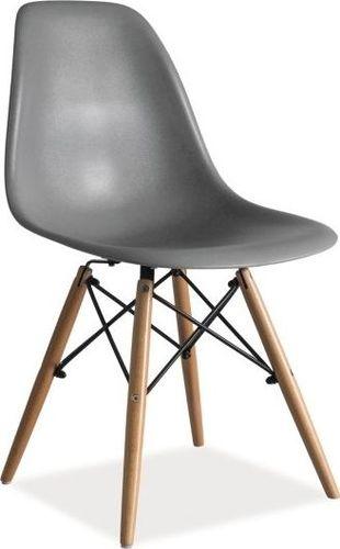 Signal Komplet 4 krzeseł Signal Meble Enzo, szaro-brązowy