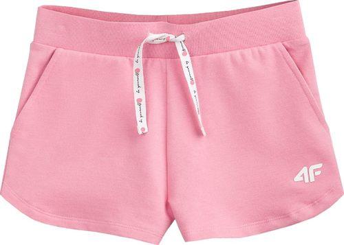 4f 4F Girl's Shorts HJL20-JSKDD001A-54S różowe 164