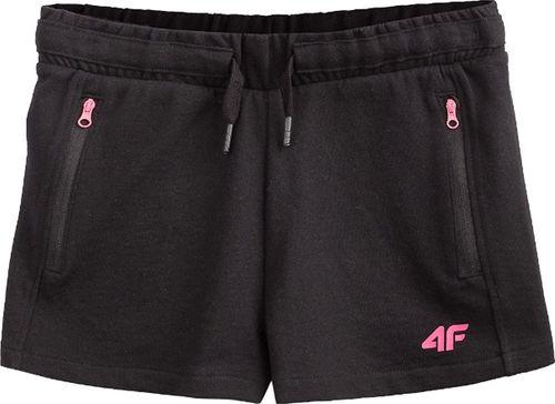 4f 4F Girl's Shorts HJL20-JSKDD002-21S czarne 164