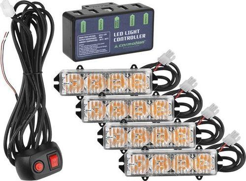 Carmotion Stroboskopy stroboskop lampki lampy ostrzegawcze LED kogut uniwersalny