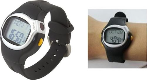 Zegarek Apte Zegarek sportowy z pulsometrem stoperem lcd uniwersalny