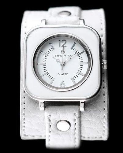 Zegarek ZEGAREK DAMSKI TIMENTO - PODKŁADKA - biały (zx590a) uniwersalny