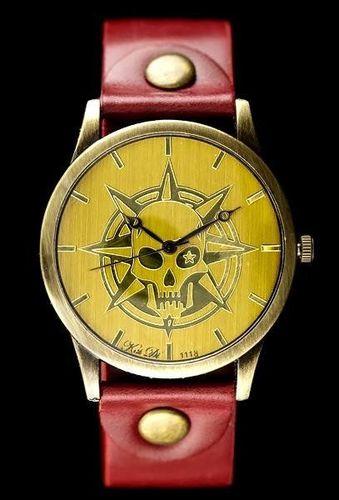 Zegarek ZEGAREK DAMSKI TAYMA - RETRO PUNK 32 -czerwony (zx594b) uniwersalny