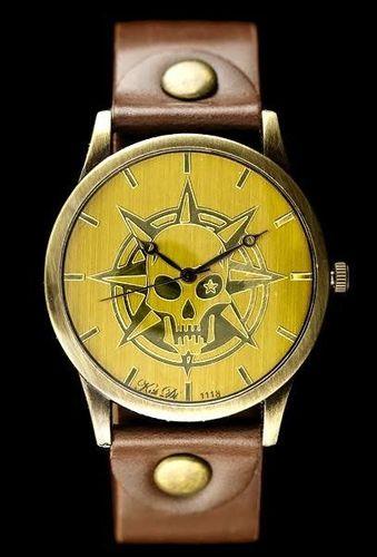 Zegarek ZEGAREK DAMSKI TAYMA - RETRO PUNK 32 - brąz (zx594a) uniwersalny
