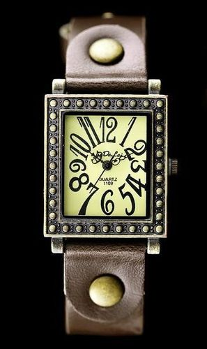Zegarek ZEGAREK DAMSKI TAYMA - RETRO PUNK 31 - brąz (zx560e) uniwersalny
