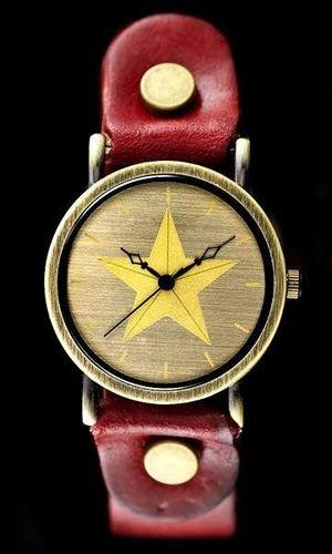 Zegarek ZEGAREK DAMSKI TAYMA - RETRO PUNK 27 -czerwony (zx583a) uniwersalny