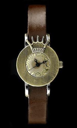 Zegarek ZEGAREK DAMSKI TAYMA - RETRO PUNK 28 - brąz (zx585d) uniwersalny