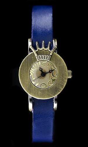 Zegarek ZEGAREK DAMSKI TAYMA - RETRO PUNK 28 - niebieski (zx585c) uniwersalny
