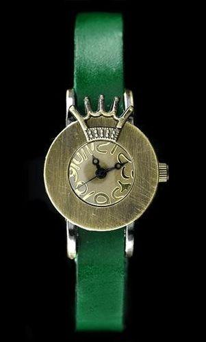 Zegarek ZEGAREK DAMSKI TAYMA - RETRO PUNK 28 - zielony (zx585f) uniwersalny