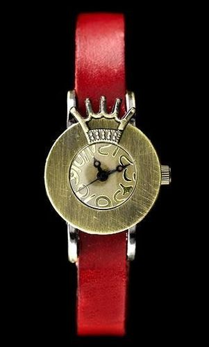 Zegarek ZEGAREK DAMSKI TAYMA - RETRO PUNK 28 - czerwony (zx585a) uniwersalny
