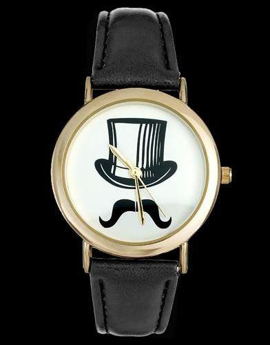 Zegarek ZEGAREK DAMSKI CYLINDER, WĄSY - asox (zx580b) uniwersalny