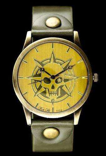Zegarek ZEGAREK DAMSKI TAYMA - RETRO PUNK 32 - oliwka (zx594c) uniwersalny