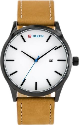 Zegarek ZEGAREK MĘSKI CURREN 8214 (zc014c) - brown/white uniwersalny