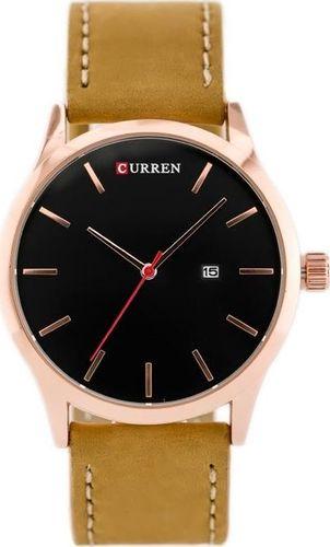 Zegarek ZEGAREK MĘSKI CURREN 8214 (zc014e) - brown/black uniwersalny