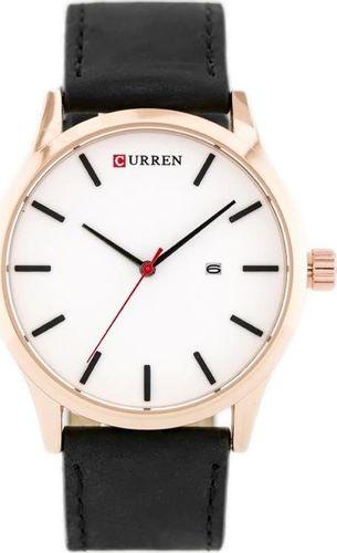 Zegarek ZEGAREK MĘSKI CURREN 8214 (zc014a) - black/white uniwersalny