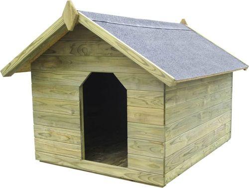 vidaXL VidaXL Buda dla psa z otwieranym dachem, impregnowane drewno sosnowe