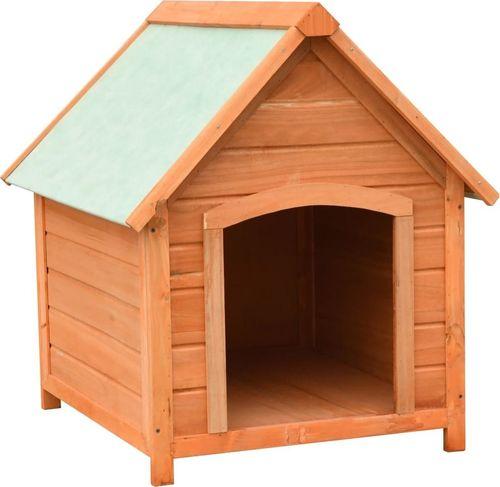 vidaXL VidaXL Buda dla psa, drewno sosnowe i jodłowe, 72x85x82 cm
