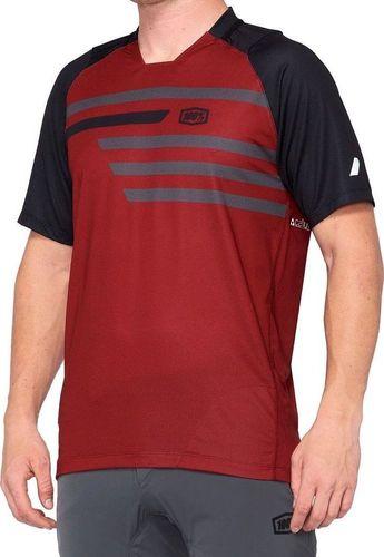 100% Koszulka męska 100% CELIUM Jersey krótki rękaw brick black roz. L (NEW)