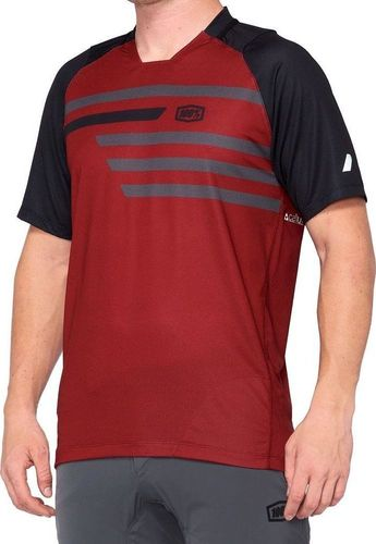 100% Koszulka męska 100% CELIUM Jersey krótki rękaw brick black roz. XL (NEW)