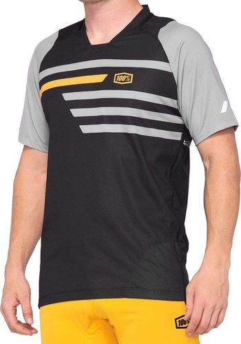 100% Koszulka męska 100% CELIUM Jersey krótki rękaw black mustard roz. M (NEW)