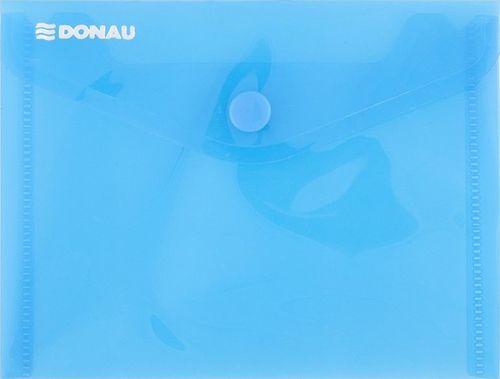 Donau Teczka kopertowa DONAU zatrzask, PP, A6, 180mikr., niebieska
