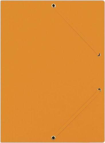 Donau Teczka z gumką DONAU, preszpan, A4, 390gsm, 3-skrz., pomarańczowa