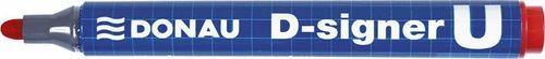 Donau Marker permanentny DONAU D-Signer U, okrągły, 2-4mm (linia), czerwony
