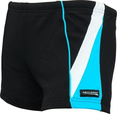 Aqua-Speed Spodenki kąpielowe męskie Diego czarno niebiesko białe
