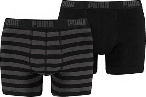 Puma Bokserki męskie Puma Stripe 1515 Boxer 2P czarne 907433 03/591015001 200