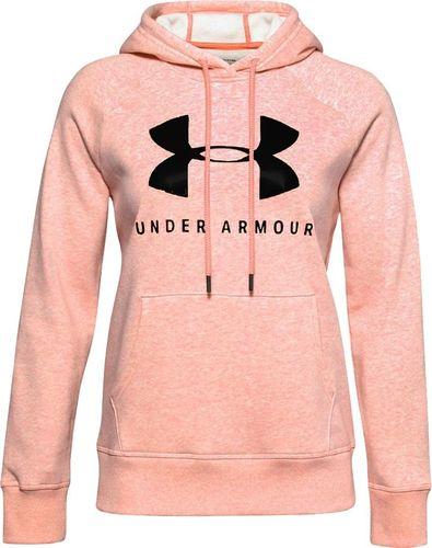 Under Armour Bluza damska Under Armour Rival Fleece Graphic Hoodie różowa 1348550 689